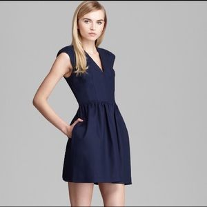 French Connection Navy Fit and Flare Dress